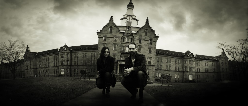 Nick Groff and Katrina Weidman from Paranormal Lockdown - Outside Location